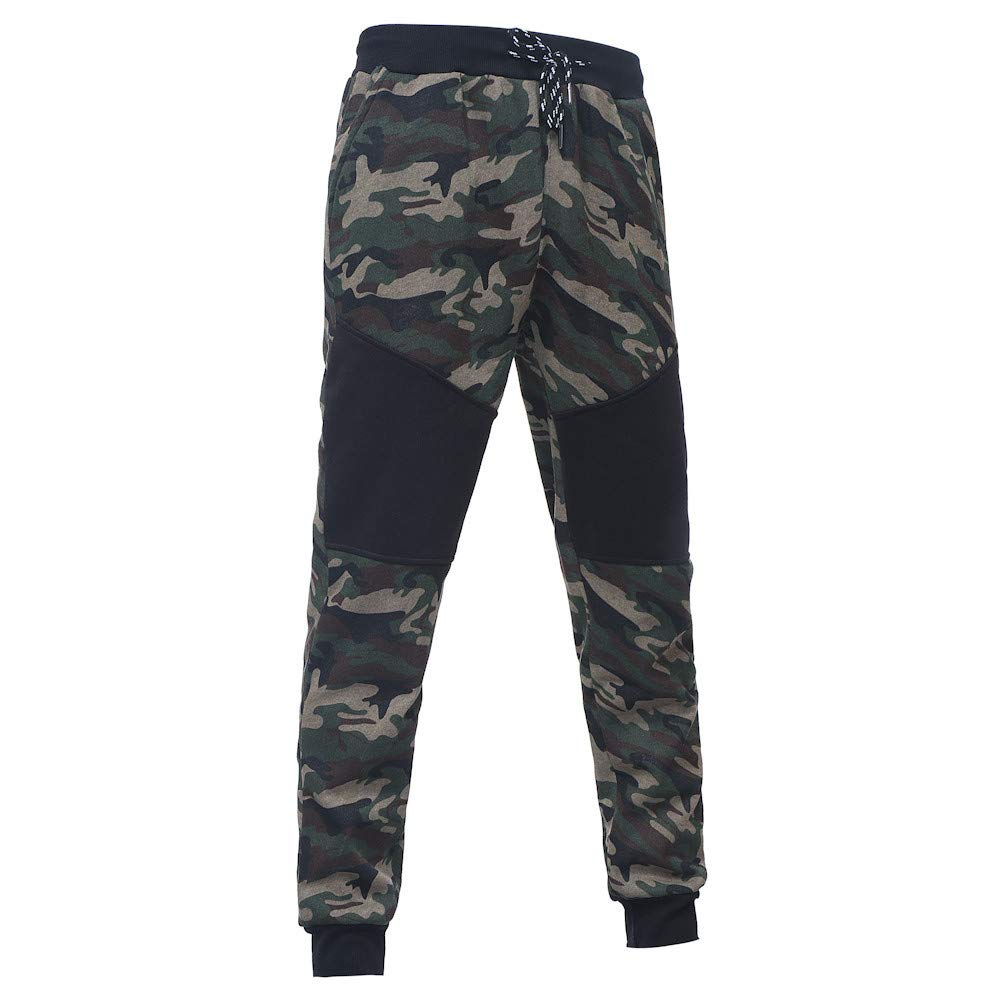 Muranba Clearance Men's Outdoor Camouflage Drawstring Trousers Pants
