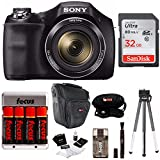 Cheap Sony DSCH300B Digital Camera with DSLR Holster Bag and 32GB SD Card Bundle (Black)