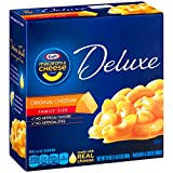 Kraft Deluxe Macaroni and Cheese Dinner, Original Cheddar, 24 Ounce Family Size Box (Pack of 3 Boxes)