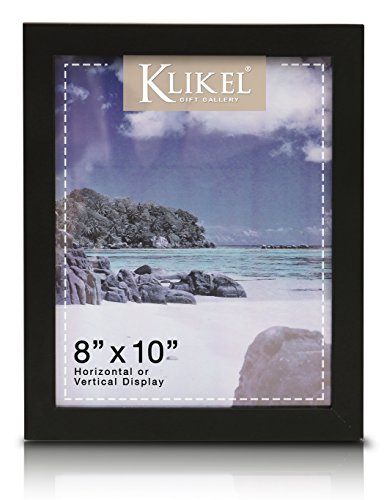 Klikel 8 X 10 Black Wooden Picture Frame - Black Wooden Wall