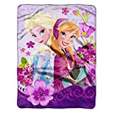 Northwest Disney Frozen Celebrate Love Micro Plush 46'' x 60'' Throw - Lavender
