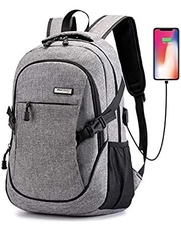 7c19e5ed7 Laptop Backpack, Business Anti Theft Waterproof Travel Backpack with USB  Charging Port & Headphone Interface
