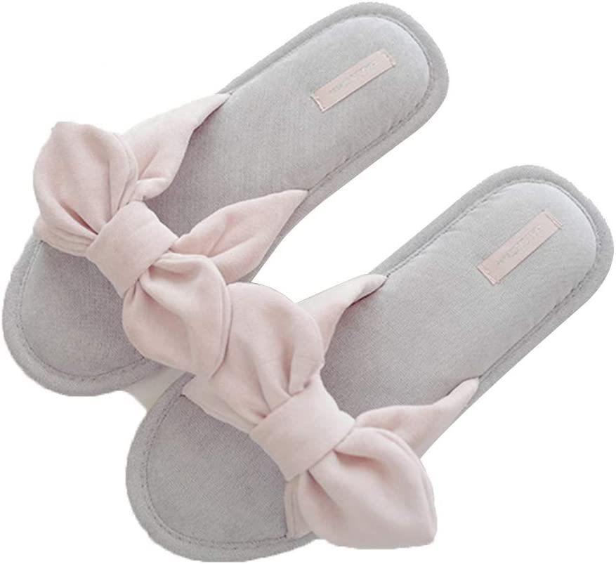 Cotton slippers Cotton Trailer Home Bow
