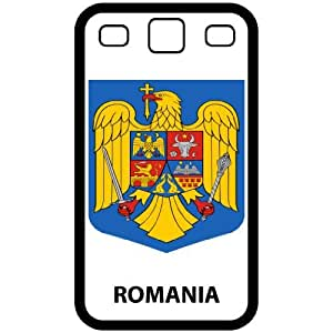 Romania - Country Coat Of Arms Flag Emblem Black Samsung Galaxy S3 i9300 Cell Phone Case - Cover