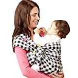 Mamaway Ring Sling Baby Wrap Carrier for Infant, Newborn, Toddler, Nursing Cover, Breastfeeding Privacy, Baby Holder, Breathable Fabric, 100% Cotton-Gingham Chuncky