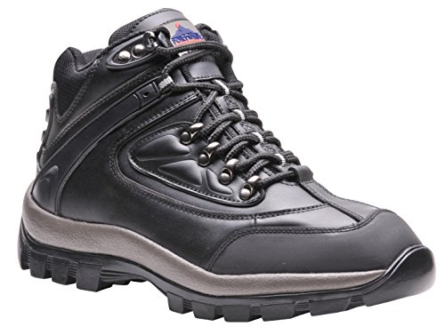 Portwest - Calzado de protección de piel para hombre, color negro, talla 39 EU negro