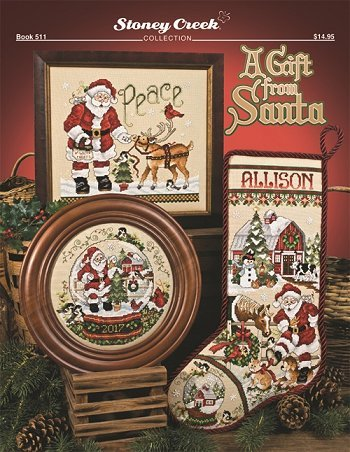 A Gift from Santa Book 511 Cross Stitch Chart and Free Embellishment