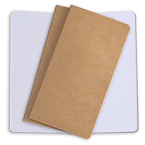 Paper Refill 3 Pack Paper for Traveller's Leather Journals Or Refillable Diaries – Set of 3 Design Paper Refills for Sovereign-Gear Leather Journal Refillable Travellers Notebook (3 White - Squares)