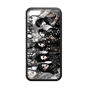 linJUN FENGGeneric Black Veil Brides Custom Cover Cases For iphone 6 plus 5.5 inch TPU (Laser Technology)
