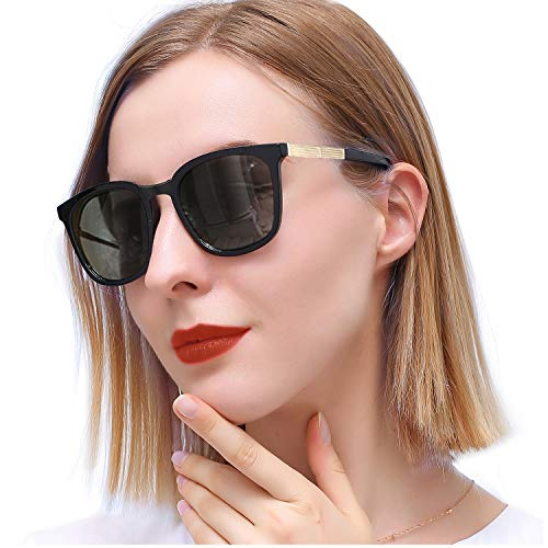 SIPHEW Mirrored Sunglasses for Women Polarized, Vintage UV400 Protection Eyewear for Outdoor