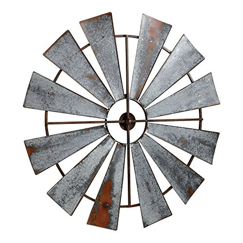 Ethan Allen Large Metal Windmill Wall Décor