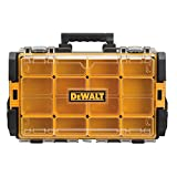 DEWALT DWST08202 Tough System 100 Bucket Tool Organizer with Clear Lid, black