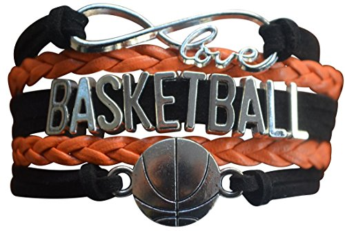 Basketball Charm Bracelet - Infinity Love Adjustable Charm Bracelet with Basketball Charm for Female Basketball -