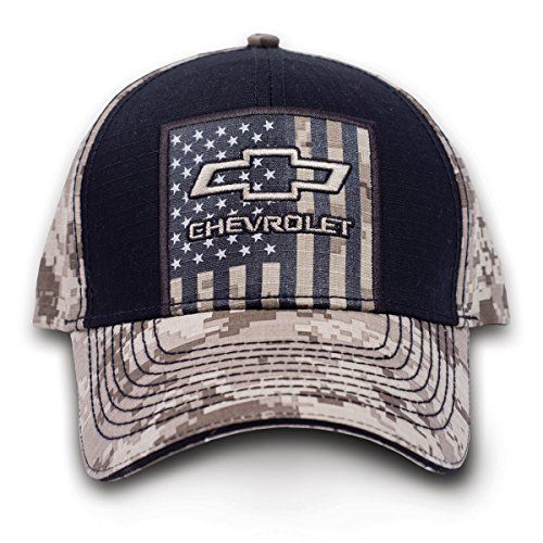 (Buckwear Buck Wear 9112 Chevy USA Tan Digi Baseball Cap Black Digi, One Size)