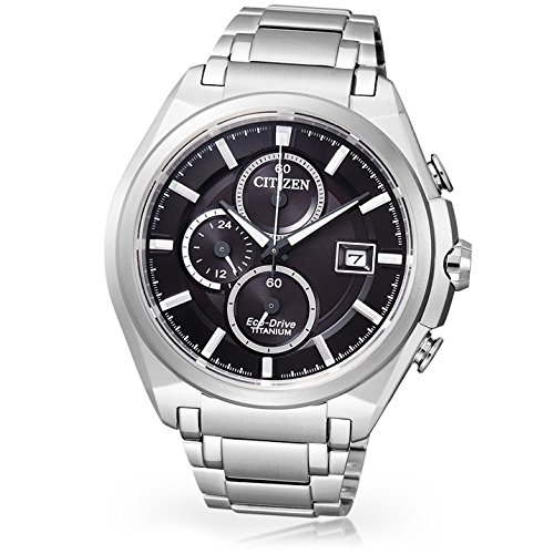 Citizen Super Titanium CA0350-51E - Reloj cronógrafo de Cuarzo para Hombre, Correa de Titanio Color Plateado: Citizen: Amazon.es: Relojes
