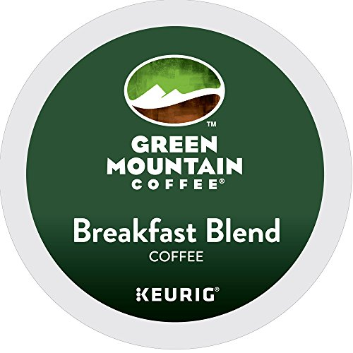 Green Mountain Coffee, Breakfast Blend, Single-Serve Keurig K-Cup Pods, Light Roast, 72 Count (3 Boxes of 24 Pods)
