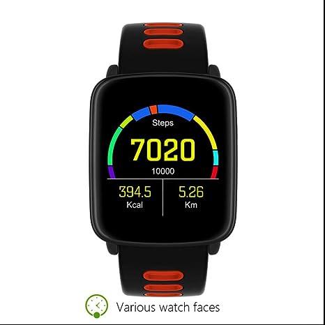 Reloj Inteligente IP68 Impermeable Monitor de Ritmo Cardíaco Reloj Deportivo Mensaje Recordatorio de Llamada Bluetooth 4.0
