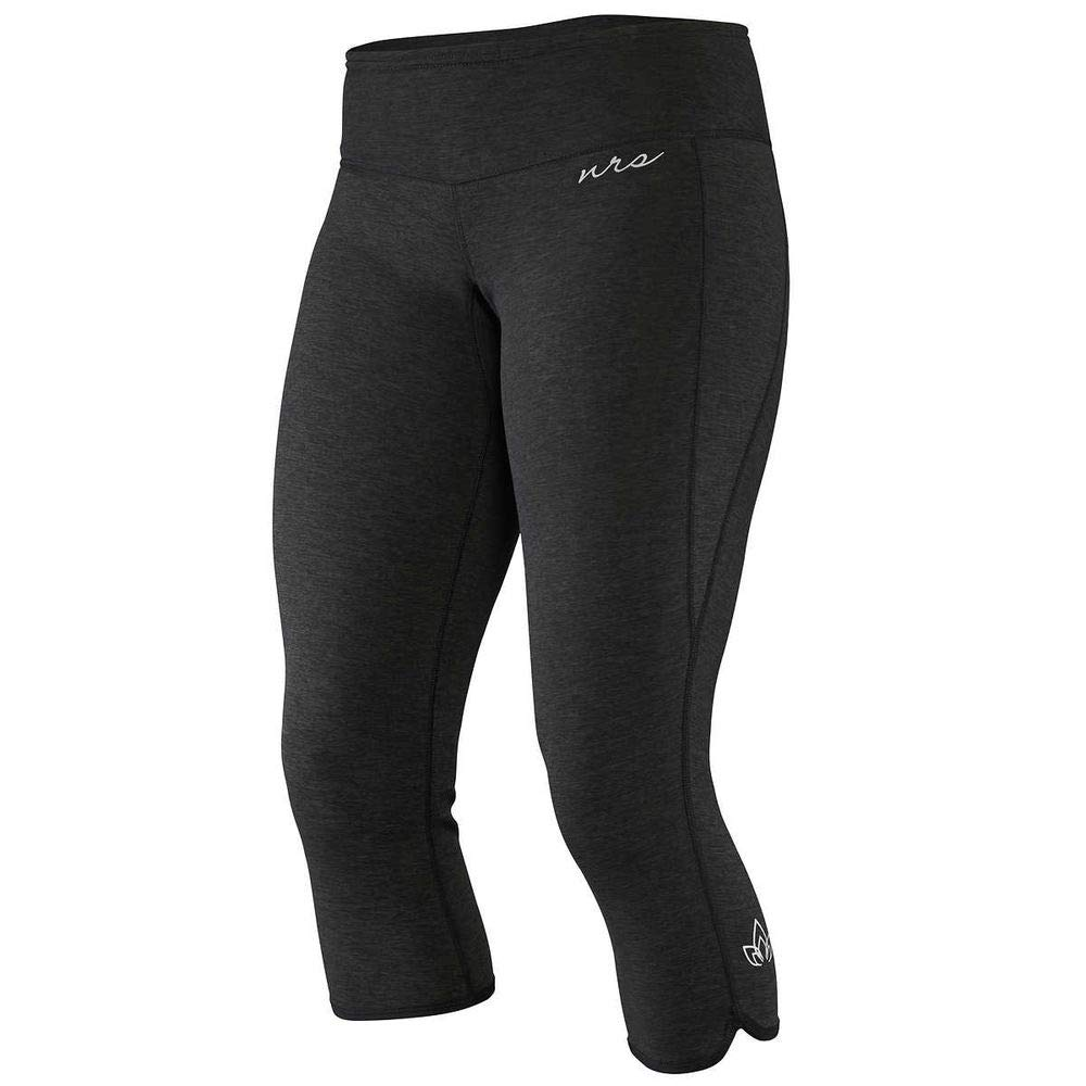 NRS HydroSkin 0.5 Capri - Women's Charcoal Heather XS by NRS