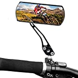 Bestgle 2pcs Bicycle Mirror Bike Cycling Flat Rear View Mirror Handlebar Adjustable Rotatable