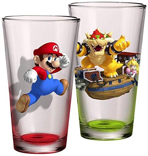 JUST FUNKY SM-GS2-10397-Jfc Super Mario Pint Glass Set