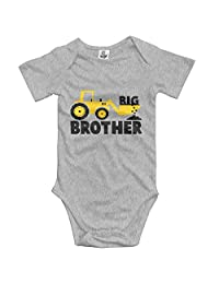 Midbeauty Big Brother Tractor Lover Newborn Baby Sleeveless Jumpsuit Romper