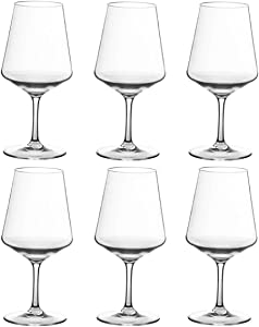 20-ounce Unbreakable Wine Glasses-100% Tritan Plastic Stem Wine Glasses, set of 6-All Purpose,Red or White Wine Glass,Dishwasher Safe,BPA Free