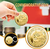 2PCS Dogecoin Coin Gold Plated Commemorative