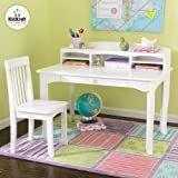 KidKraft Avalon Desk with Hutch and Chair - White