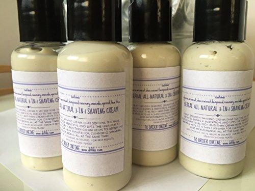 "Herbal All-Natural ""3-in-1"" Shaving Cream, Ditlihi OriginalsTM 4-PACK"