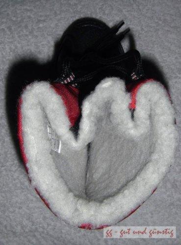 CHAUSSURE -PFI -Galosh rembourré chaud Bottes Noir&Rouge Enfant Pointure 22 neuf avec étiquette