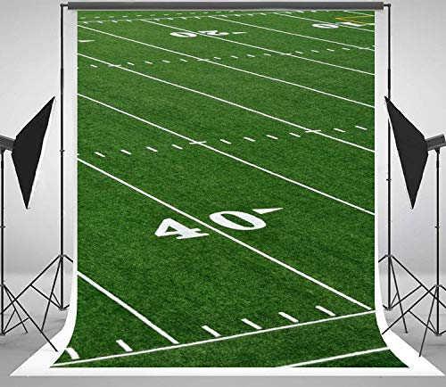 5x7ft Sports Football Soccer Stadium Themed Backdrop for NFL Computer Printed Party Photo Studio Background Ly-1003 ()