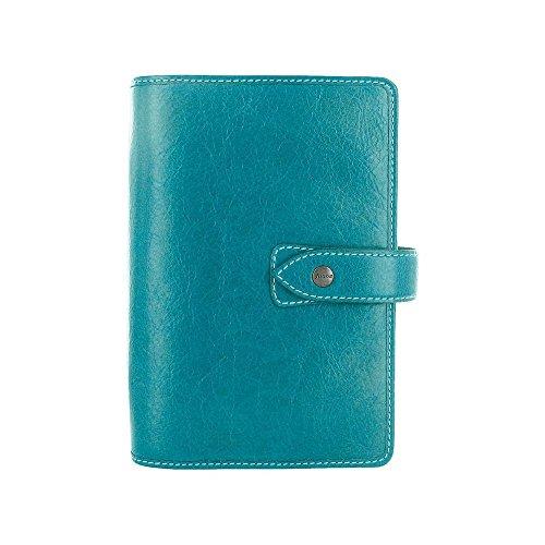Filofax Malden Kingfisher Personal Leather Organizer Agenda 2017 Calendar Diary with DiLoro Jot Pad Refills 026026