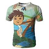 STMMT Go Diego Go Mens T-shirt Full Side Print Novelty Bright Planet Blouse Material Short Sleeved Sportswear