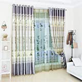 TIANTA- A Set Of 2 Pcs Bedroom Living Room Balcony Semi-shading Satin Fabric Curtain Simple Modern Finished Product decorate ( Size : 2.92m (widthheight) )