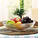 modern European style glass fruit dish Fruiting coffee table Home Decoration Fruit basket fruit Dried fruit plate Medium number