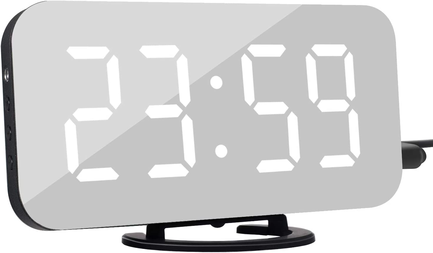 LED Digital Alarm Clock with Snooze Function and Auto/Custom Brightness Electronic Clock with 6.5