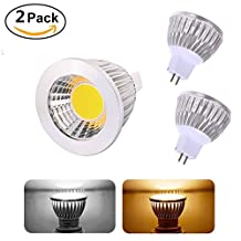 MR16 5W COB LED Spot Light Down Lamp DC12V Non-Dimmable,Flood Light Bulb ,50W Equivalent Recessed Lighting (2 pack, Cool white)