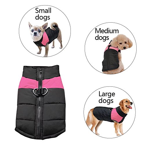 Didog Cold Weather Dog Warm Vest Jacket Coat,Pet Winter Clothes for Small Medium Large Dogs,8, Pink,4XL Size by Didog (Image #8)