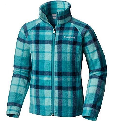 (Columbia Baby Girls' Benton Springs Ii Printed Fleece Jacket, Pacific Rim Plaid, 3-6 Months)