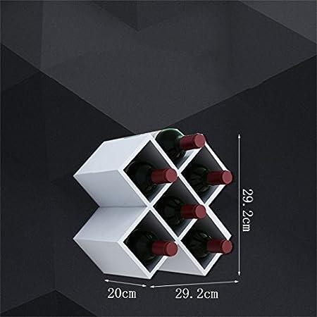 Ali@ Vinoteca/Enrejado de Vino/Varias especificaciones Disponibles/Paneles Blancos/a Base de Madera/Vinoteca en Forma de Diamante/Colgante de Pared Vinoteca/Estante de Pared/Vinoteca m