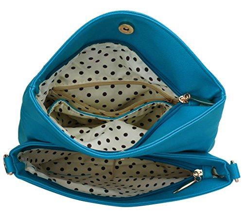 LeahWard® Damen Klein Mode Essener Kreuzbeutel Damen Stunning Herrlich Ausgehabend Tasche CWS00371 CWRB15111 371A blau