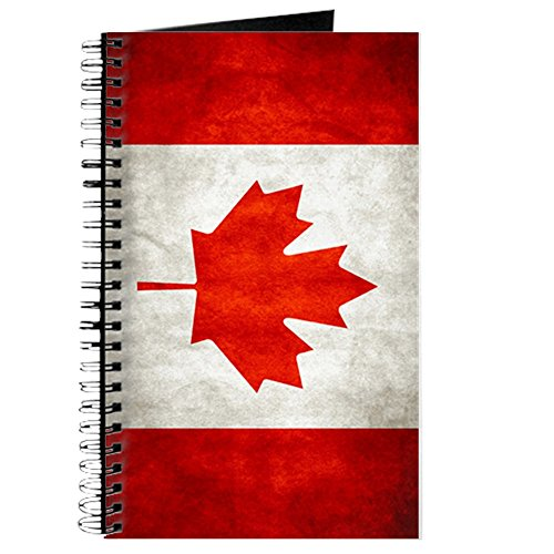 Journal (Diary) with Canadian Canada Flag Grunge on - Journal Canada Vancouver