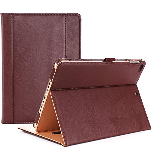 ProCase iPad 9.7 Case 2018/2017 iPad Case - Stand Folio Cover Case for Apple iPad 9.7 inch, Also Fit iPad Air 2 / iPad Air -Brown (Best Slim Case For Ipad Air 2)