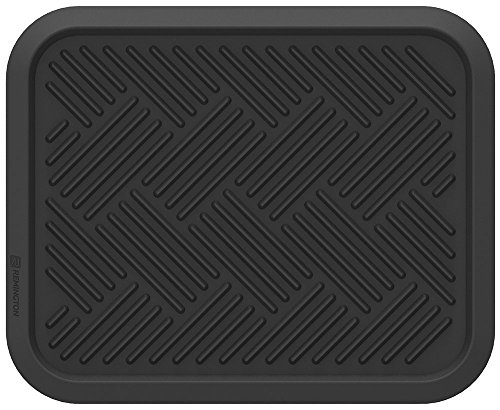 RoadWear 605-14 Automotive All Weather Rubber Rear Floor Mat: Universal Fit, Black