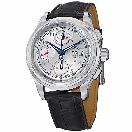 Amazon.com: Ball Trainmaster Pulsemeter Chronometer Watch, Silver ...