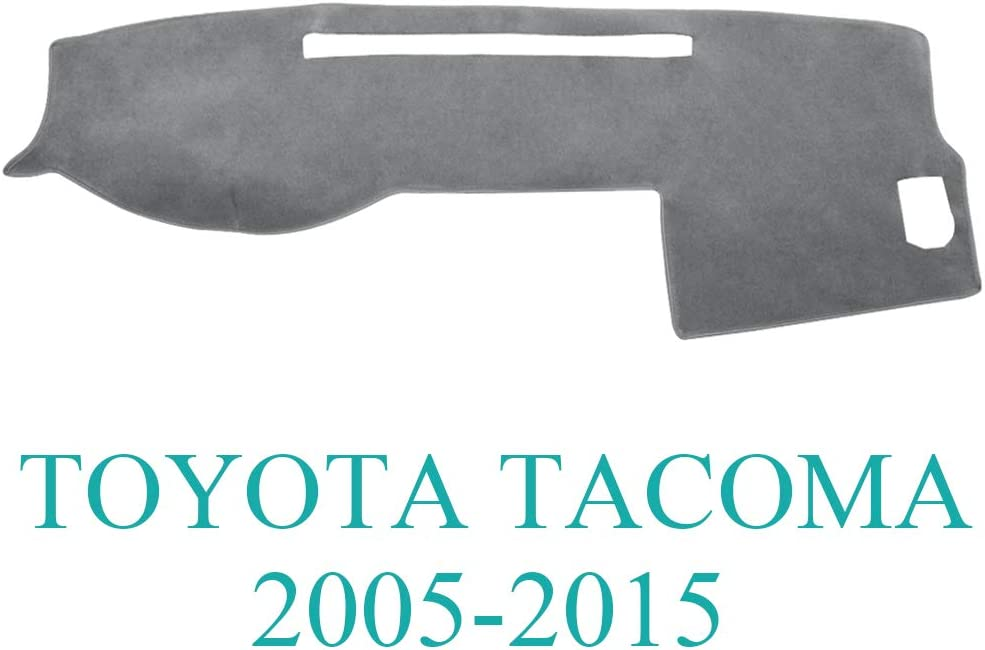 AKMOTOR Dash Cover Dashboard Cover Mat Pad for Toyota Tacoma 2005-2015 (Gray) Y35