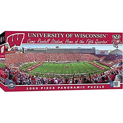 TSE University of Wisconsin 1000pc Pano Puzzle: Sports & Outdoors