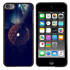 LECELL--Funda protectora / Cubierta / Piel For Apple iPod Touch 6 6th Touch6 -- Espacio Tierra Sci Fi futurista Planet --
