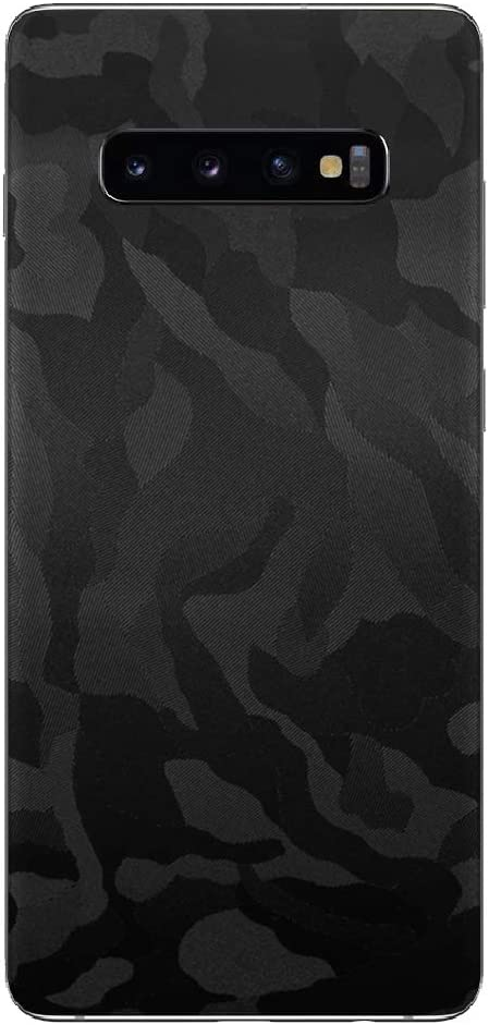 7 Layer Skinz Custom Skin Wrap Compatible with Samsung Galaxy S10+ Gunmetal Carbon Fiber