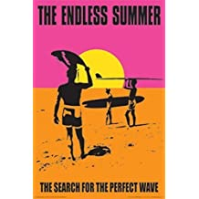 The Endless Summer Movie Holding Surfboard, Orange Poster Print by Culturenik